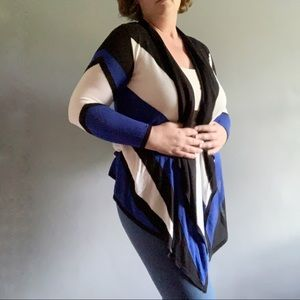 INC INTERNATIONAL CONCEPT • draped open cardigan